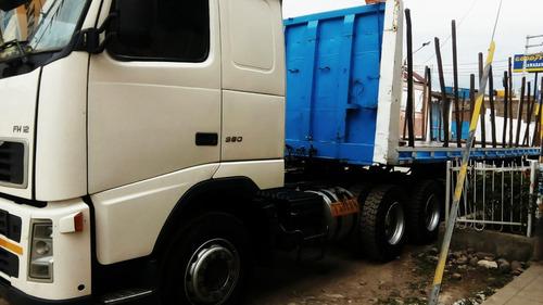 remato tracto camión volvo fh380 + plataforma-  año 2005