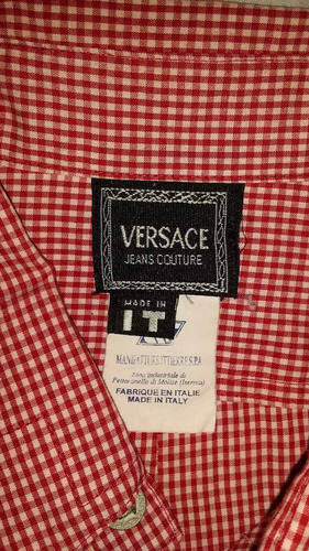 remato versace, camisa xl original impecable seminueva
