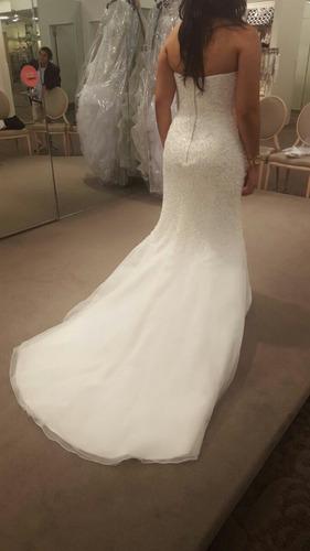 remato vestido de novia nuevo corte sirena talla 10
