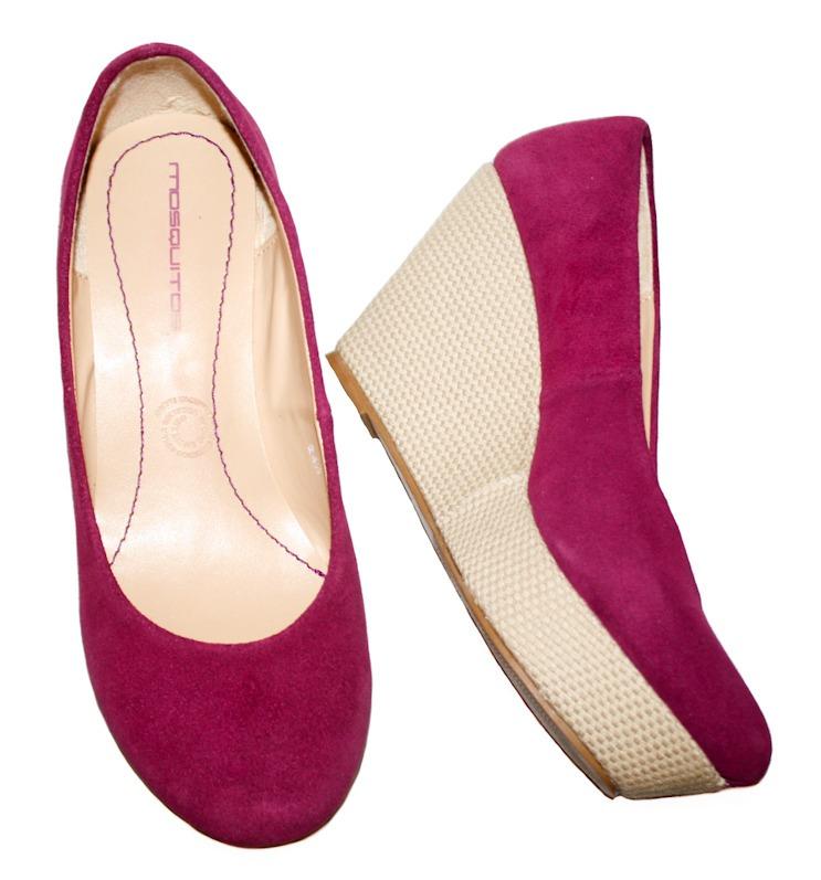 5a28faefce Remato Zapatos Tacon Wedge Color Bugambilia Rosa No. 4.5 -   600.00 ...