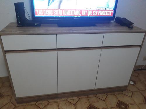 rematoooo!!! juego de mesa con 8 sillas con mesa tv