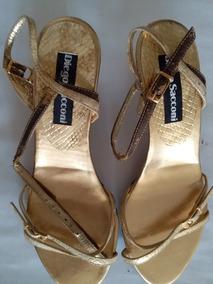 fotos oficiales 542c9 8e64e Sandalias De Fiesta Doradas - Ropa, Zapatos y Accesorios en ...