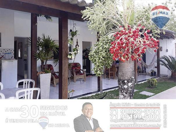 re/max itacon vende linda casa em porto seguro, condomínio outeiro da glória - ca0168