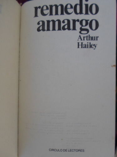 remedio amargo - arthur hailey