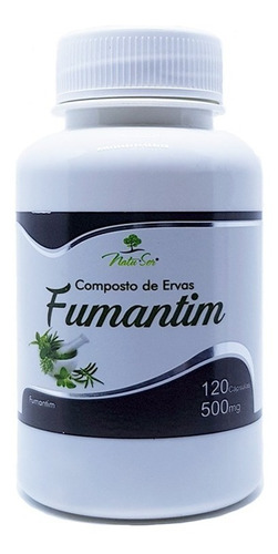 remedio natural pra parar de fumar - fumantin - 120 capsulas
