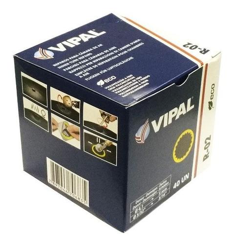 remendo a frio r-02 50 mm - caixa com 40 peças - vipal