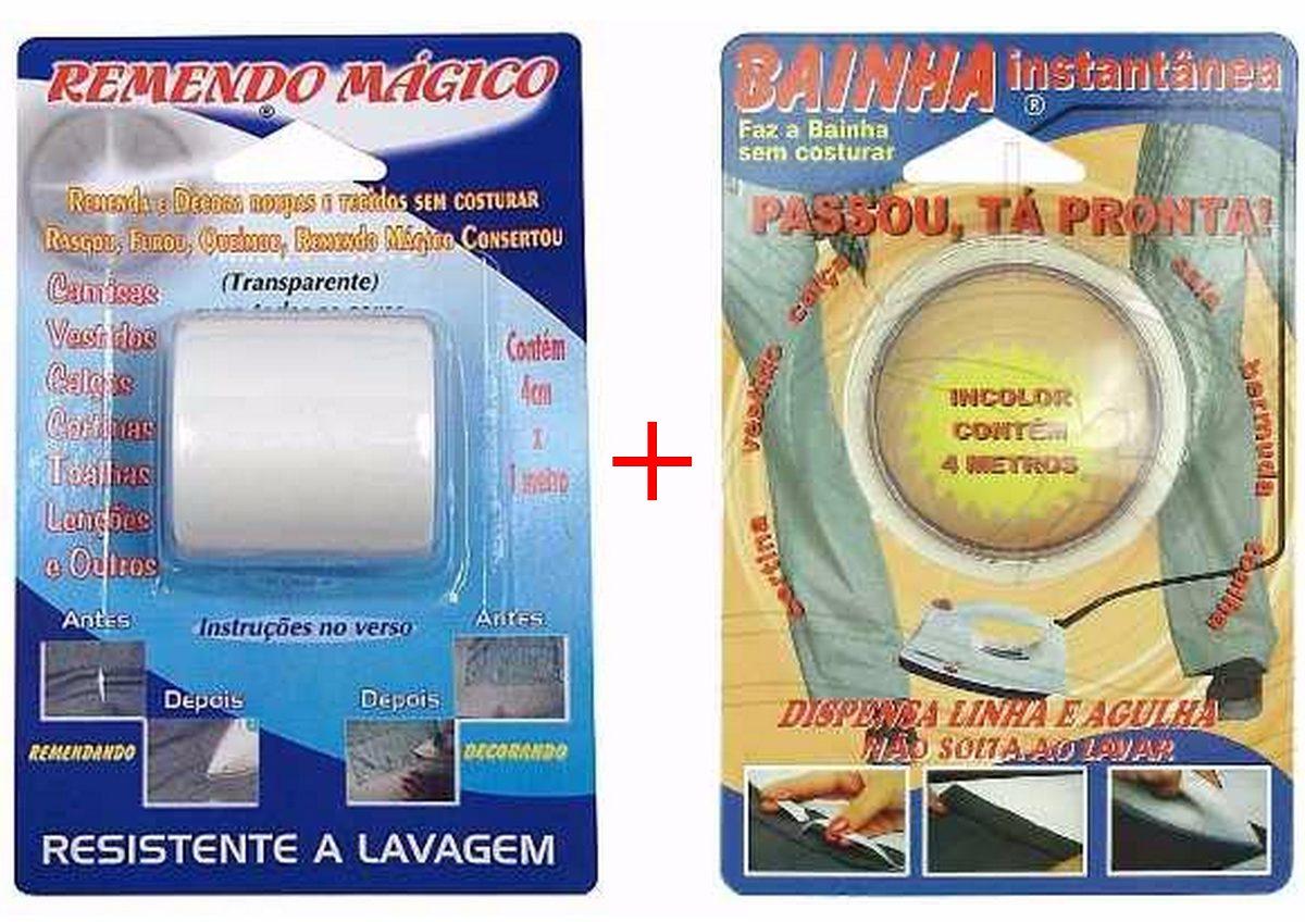 c91fe94c3d Remendo Mágico + Bainha Instantânea - Dispense Linha agulha - R  33 ...
