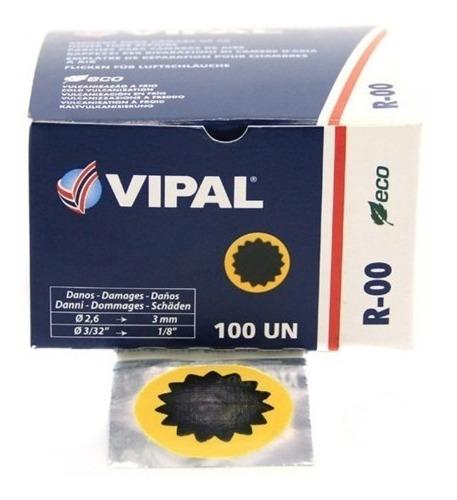 remendo para camara de ar vipal r-00 ( cx 100 unidades)