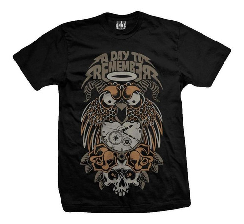 remera a day to remember  owl