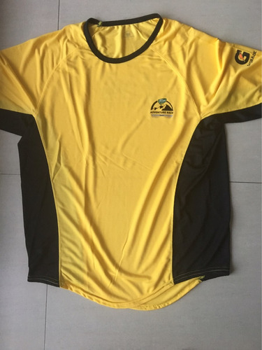 remera adventure race tandil amarilla - talle m