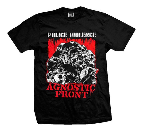 remera agnostic front  police violence