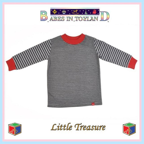 remera algodón rayada risata ta 6-12 meses little treasure