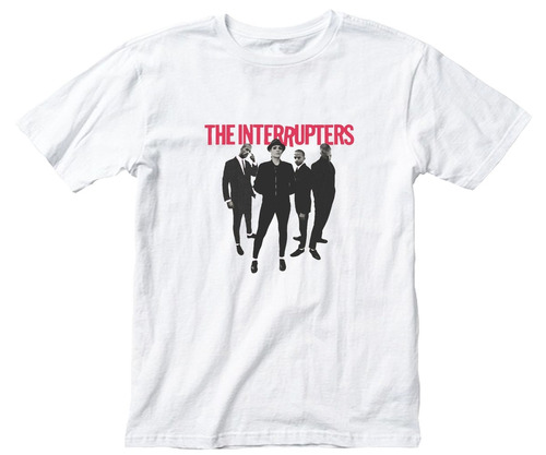 remera algodon unisex  21x29cm the interrupters punk ska