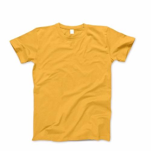remera amarilla de algodon