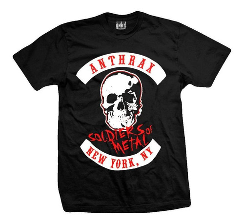 remera anthrax  soldiers of metal