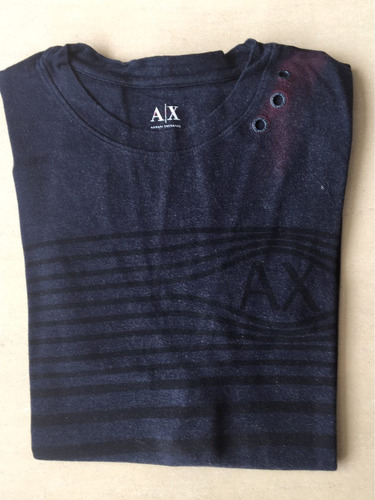 remera armani exchange alx azul - talle l