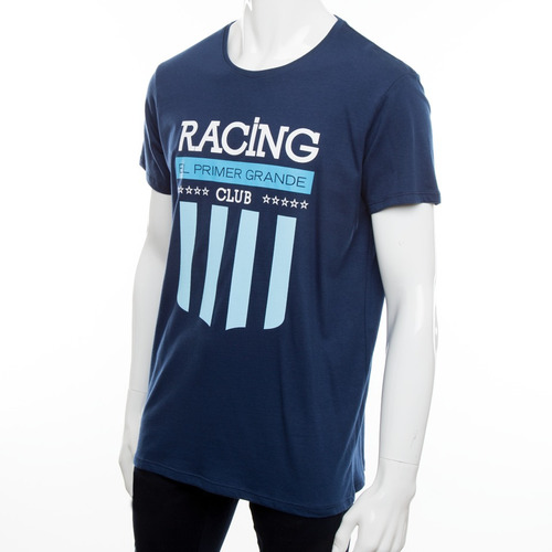 remera azul - racing 1026