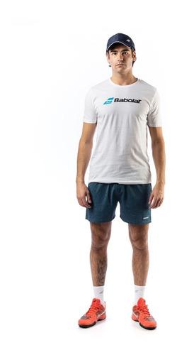remera babolat hombre classic blanco / azul