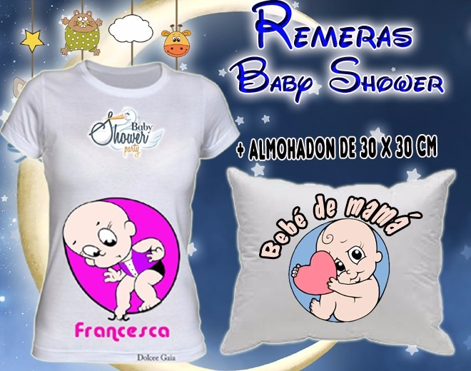 8738b7e3d Remera Baby Shower + Almohadon Embarazadas Futura Mama Panz -   449 ...