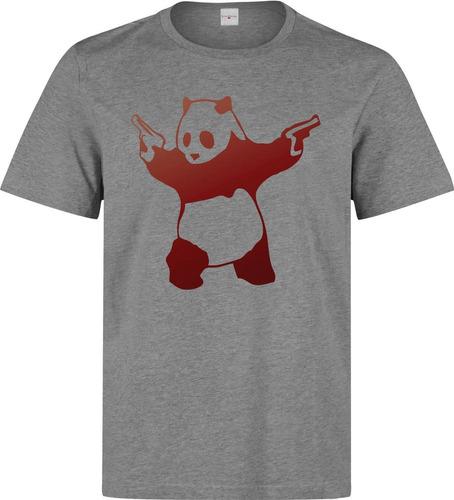 remera banksy red panda con armas ilustraciones dope calida