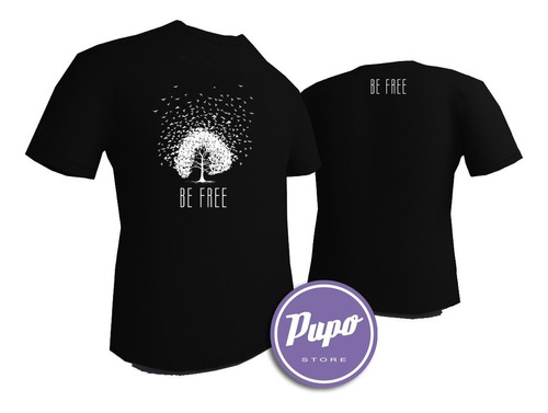 remera be free - estampados con onda - diseño exclusivo