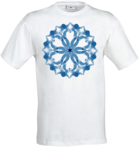 remera blue trippy mandala arte new age meditación hombres