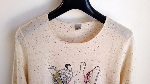 remera blusa dama jaspeada estampada marca ver argentina