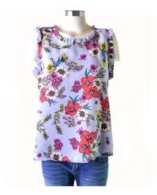 37dc66f51402 Remera Blusa Floreada Estampada Volado Mujer The Big Shop