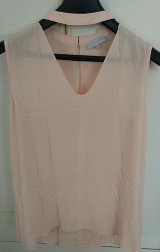 remera blusa sin mangas talle s/m rosada