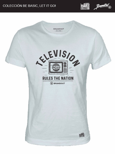 remera brandout - rules the nation!