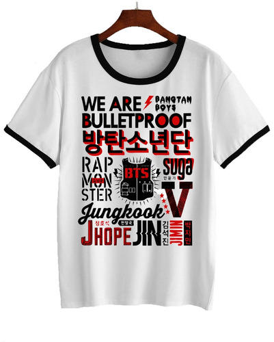 remera bts - we are bulletproof kpop k pop