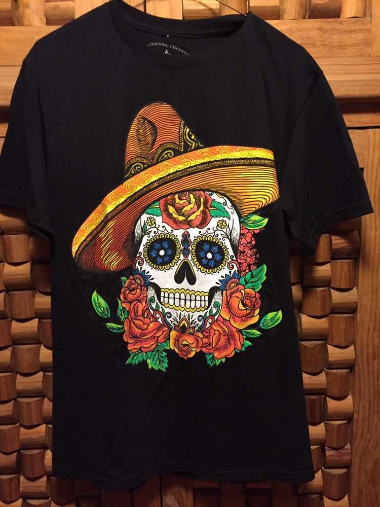 Remera Calavera Mexicana Con Sombrero Importada 70000 En
