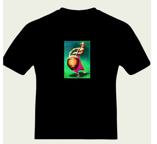 remera candombe tambor piano