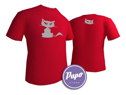 remera cat - estampados con onda - diseño exclusivo