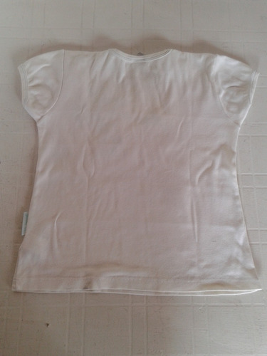 remera cheeky amour blanca de algodon talle 10