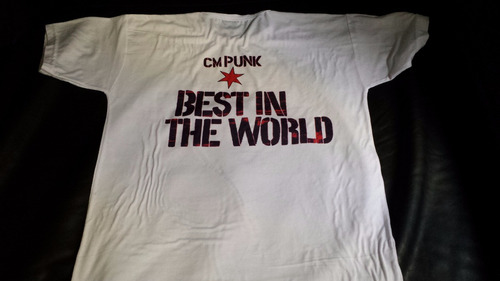 remera, cm punk, best in the world, lucha libre, wrestling