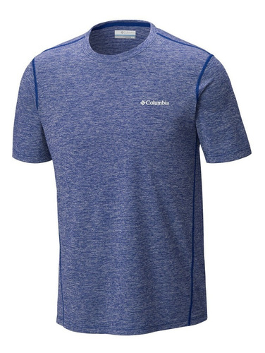 remera columbia deschutes runner short-sleeve hombre m corta