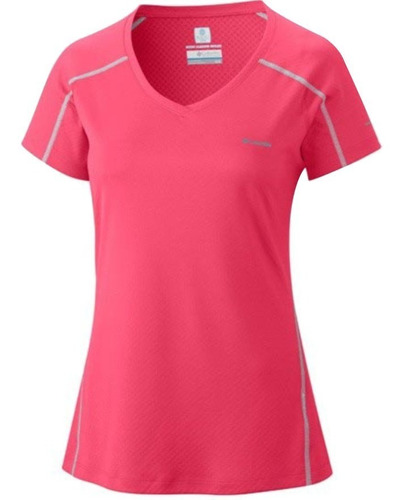 remera columbia zero rules omni freeze / wick upf 30 mujer