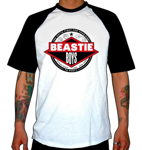 remera combinada beastie boys  you gotta fight