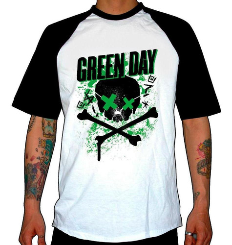 remera combinada green day  21st century breakdown