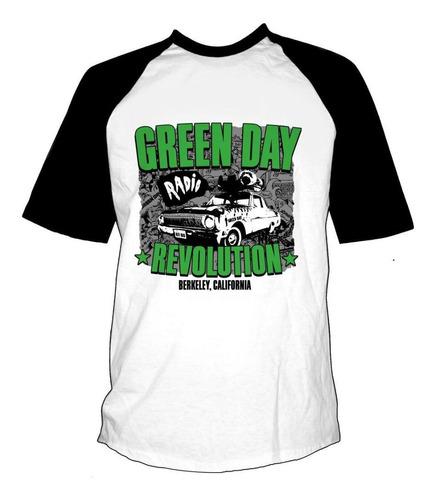 remera combinada green day revolution radio