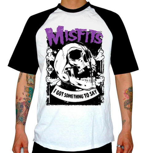 remera combinada misfits  i got something to say