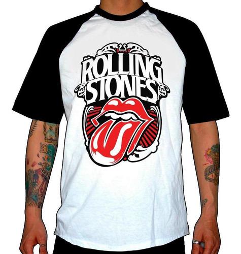 remera combinada rolling stones  forever stone