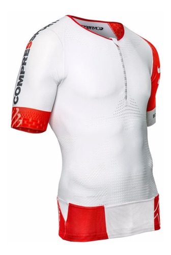 remera compresión compressport triathlon tr3 aero top hombre