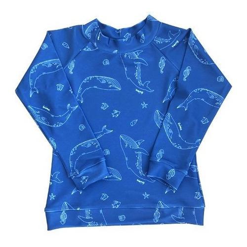 remera de agua ballena azul (talle 2)