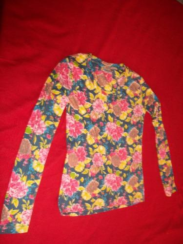 remera de dama estampada en algodón talle m  (nueva)
