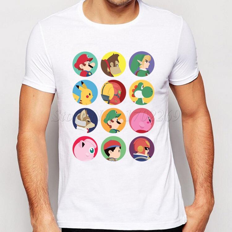 Remera De Dibujos Animados Super Mario De Colores Basico Po - $ 300 ...