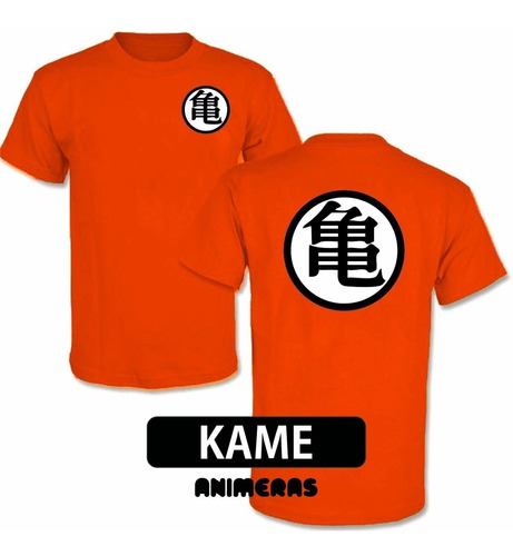 remera de goku dragon ball z naranja
