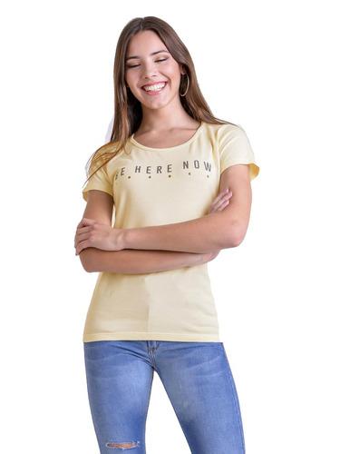 remera de mujer algodon con estampa y tachas mauro sergio
