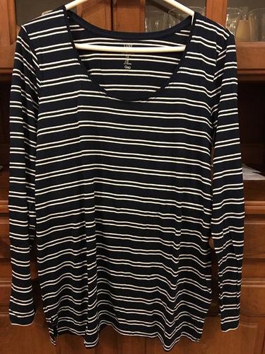 remera de mujer manga larga, marca gap, talle m. nueva